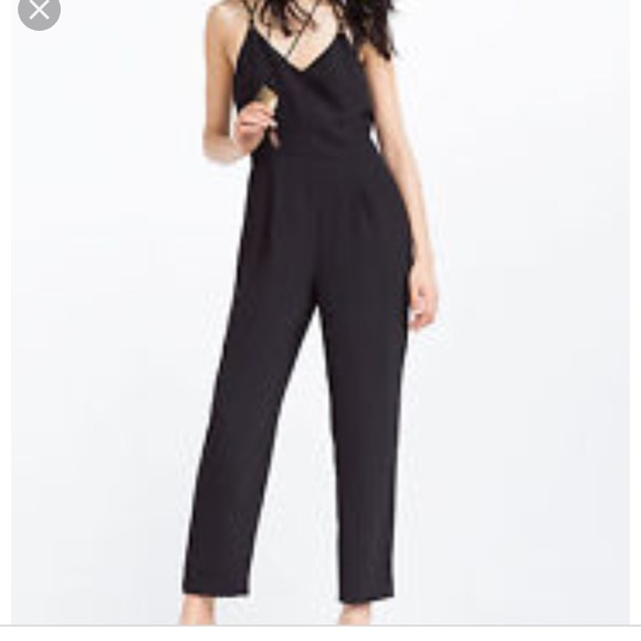 777406f7295 Zara tailored strappy black jumpsuit. M 5b0932433b1608ed2ef7f4d7. Other  Pants you may like. NWT Zara Shimmering Animal Print Romper